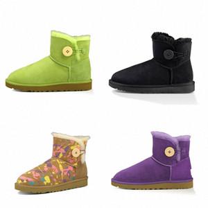 2021 ugg uggs ugglis дизайнер классический WGG короткий Бейли лук высокая кнопка триплет Австралия женские женские ботинки зима снежные ботинки мех пушистый австралийский M7EY #