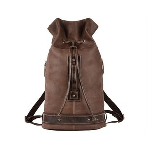 New model cow leather large backpack outdoor travel laptop bag for men A1113
