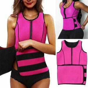gym NEW Women Neoprene Sauna Vest Body Shaper Slimming Waist Trainer Fashion Workout Shapewear Adjustable Sweat Belt Corset
