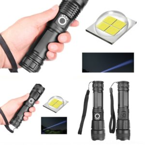 4699 Modes Zoomable Torch Lamp Portable COB LED Tactical FlashlightRechargeable Flash Work Light With tactical Tail flashlight laser glare c