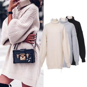 Suéter para mujer Otoño Otoño Invierno Mujeres Turtuelas Sweaters Pulloters Punto de punto Grueso Grueso Cálido Suéter de punto Jersey