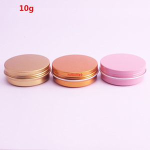 10g Empty Refillable Aluminum Jars Rose Gold Pink Silver Metal Tin Batom Cream Lotion Cosmetic Containers Crafts Packaging 50pcspls order