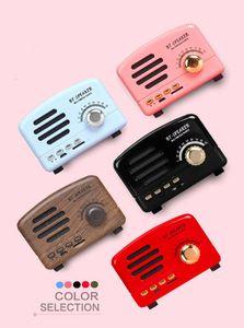 Retro Radio Bluetooth Speaker Vintage Mini Bluetooth Speaker Nostalgic heavy Bass 3D Stereo Surround HiFi Sound Effects TF USB FM AUX HM11