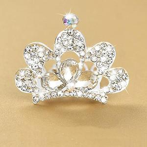 Accessori 1Pcs nuovo strass Glittering Crown fascia dei capelli delle ragazze della fascia Capelli Testa principessa Tiara fascia dei bambini