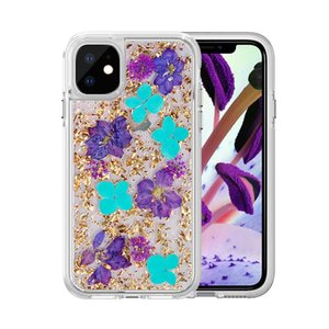 Real Flower Case For iPhone 12 Mini 11 Pro Max X XR Xs Max 7 8 Plus 6 6S For Samsung Galaxy S10 S10e S10 + S9 Plus S9 Rugged Armor Shell