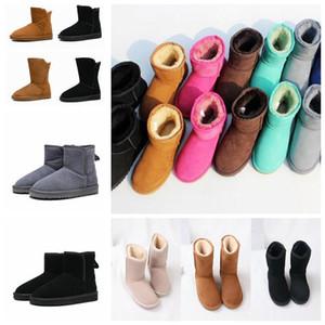 2021 Classic australia wgg women fluffuggs platform womens boot girls lady bailey bow winter snow Half Knee Short boots 4b07#