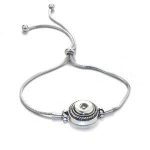 Newest Adjustable Snap Button Bracelet Metal European & American Charms Bracelet For Women 12mm Snap Button Jewelr bbyFWI