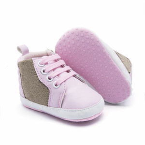 Baby First Walkers Designer Recién nacido Corazón Impresión Zapatillas de deporte Casual Sole Sole Prewalker Infantil Baby Sports Shoes Zapatos de diseñador para niños