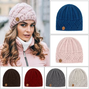 2020 Fashion Winter Hat Women Autumn Faux Fur Female Warm Knitted Beanie Girl Woman Bonnet Femme Chunky Thick Stretchy Hats