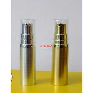 Free Shipping 5ml Silver Golden plastic Vacuum Pump Bottle Eye Cream Liquid Foundation Empty Cosmetic Containershigh qualtity