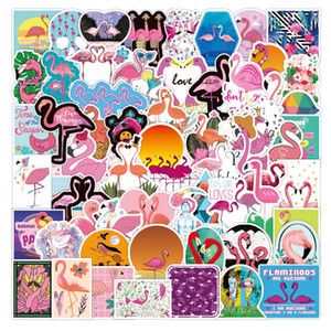Pack of 100PCS Hotsale Flamingo Stickers Waterproof No-duplicate Flamingo Sticker Luggage Laptop Skateboard Car Decal Dropshipping