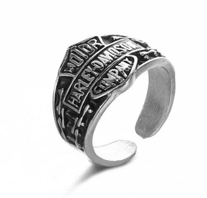 Hot Sales New Stainless Steel Fashion Personality Women Men Retro Punk Ring Harley Motorcycle Accessories Gifts Free Shipping