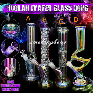 Glow In The Dark Bong Downstem Perc heady Dab Rigs Glass Water bongs Smoking Accessories Bubbler Oil Burner Pipe Hookahs 14mm bowl