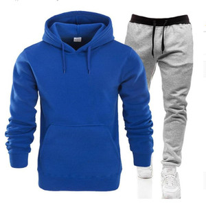 Hot sale 2pcs sweatsuits Tracksuit Men hoodies pants Mens Clothing Sweatshirt Pullover womens Casual Tennis Sport Tracksuit Sweat Suit