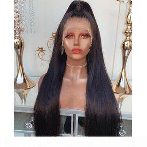 Parte profonda Elevata Ponytail Silky Straight 360 parrucche frontali frontali capelli parrucche per capelli umani nastronate precipitate 180Densità parrucche piene pizzi