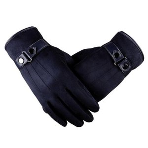 Wholesale-New Fashion Anti Slip Men Warm Motorcycle Ski Snow Snowboard Faux Suede High Quality Gloves