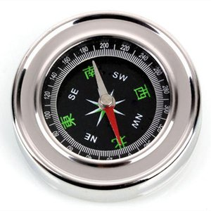 Pure Clamshell Compass With Luminous Pocket Watch Compass Portable Outdoor Multi- function Metal Measuring Ruler Tool