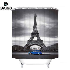 Sdarisb Diferente Custom Waterproof Impermeável Duche Curtain Curtain Tecido de Poliéster Banheiro Cortina Y200108
