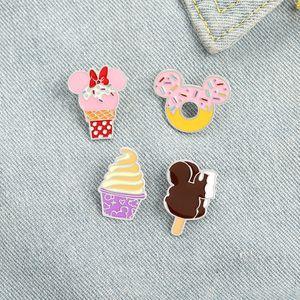 Süße Donut Emaille Broschen Pin für Frauen Mädchen Modeschmuck Zubehör Metall Vintage Broschen Pins Abzeichen Großhandel Geschenk
