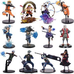 Naruto Figure Anime Kakashi Obito Sasuke Orochimaru Hinata Itachi PVC Action Model Shippuden Collectible Toys Christmas Gifts Q1217