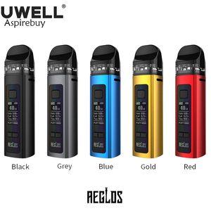 Uwell Aeglos Pod Kit 5W-60W Aeglos MOD Vape 1500mAh Battery 3.5ml Cartridge Aeglos Coil For DTL MTL Electronic Cigarette Vaporizer Authentic