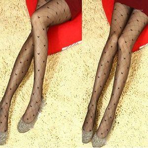 양말 양말 도매 - 섹시한 여자 숙녀 fishnet 점 heart bowknot 팬티 스타킹 스타킹 스타킹 Black1