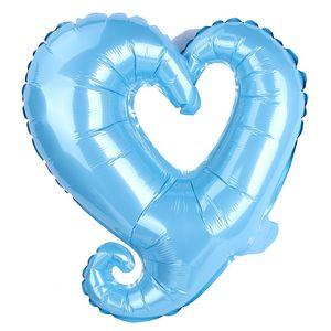 18 polegadas gancho forma coração alumínio folha balões de casamento decoração dia dos namorados dia dos namorados festa de bebê festa de bebê balões EEF3911