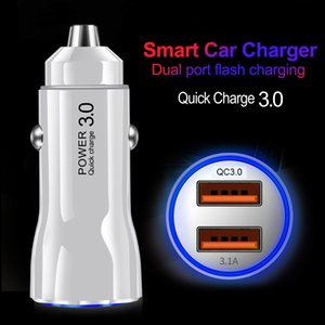 Mini USB Car Charger Adapter Quick Charge 3.0 Car USB Charger Mobile Phone QC3.0 Dual USB Car-charger 2 Port For Samsung