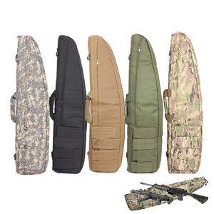 Охота 72 95 120см Сумка для винтовки Airsoft Пистолетная сумка Рюкзак Резина Снайпер Нейлон Стрельба Сумки Тактические Охотничьи Аксессуары J1209
