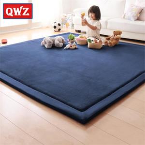 Qwz Новый 2 см Толстый играть Coral Flece Одеяло Barpet Bhildrand Baby Tatami Mats Матрас подушки для спальни Q1121