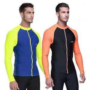 Sbart Long Sleeve Swimming T Shirts Swimsuits Men Swimwear Rash Guards Tops Surfing Suits Male Beach Bathing Suits 2019 DCO1