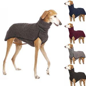 Newest High Collar Medium Big Dog Coat Jacket for Large Dogs Great Dane Greyhound Pitbull Clothing Pets Clothes