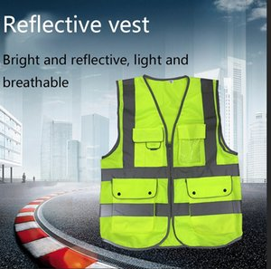 Full-reflective Vest High-end Traffic Cycling Clothing Construction Site Construction Road Multi-pocket Vest Safety Protective Clothing