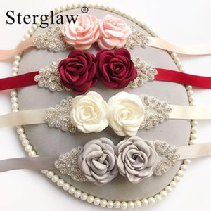 270x2cm New Female White Flower Belts For Woman Girl Bridal Prom Dress Accessories Bridesmaid Sash Floral women's belts C017