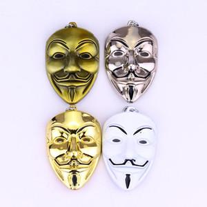 Clown V für Vendetta Keychain Anonymous Guy Maske Metall Schlüsselring Keychain Fob Für Männer Frauen Kinder Weihnachtsgeschenk