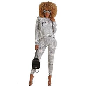 Autumn Winter Tracksuit Women Print Long Sleeve Sweatshirt Tops Pants Sets Lounge Wear Suit Jogging Femme Casual Two Piece Set