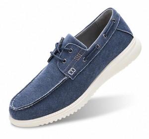 GM Golaiman Männer Moc Toe Kleid Sneaker Leichte Leinwand Bootsschuhe Lässig Lace Up Gehen Outdoor Driving Deck Schuh R5kp #