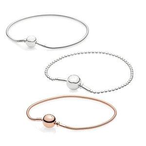Women Beaded Bangle 925 Silver Original Pans Essence Bracelet Fit Small Hole DIY Charms Trendy Europe Jewellery Birthday Gift
