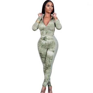 Pagliaccetti Casual High Nevk Donne a maniche lunghe Paneling Designer Designer Designer Skinnt Skinsuits Sexy Stacked Womens