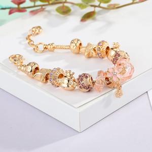Новые серебряные подвески браслет европейские бусы ювелирные изделия браслет настоящий серебряный браслет для женщин