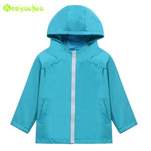 Keaiyouhuo kızlar trençkot bahar sonbahar ceket kızlar için rüzgarlık çocuklar yağmurluk giyim ceket çocuk giyim F1221