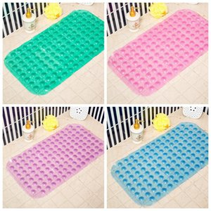 Bath Mats Anti-slip Massage Mat 35*65cm Bathroom Pierced PVC Safe Pad With Suction Cups Bath Non-Slip Mat Bathroom Accessories EWD3678