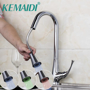 Torneiras de pia do banheiro Kemaidi deck contemporâneo montado conduzido com 3 cor cromo polido acabado sem necessidade de bateria água torneira de cozinha elétrica