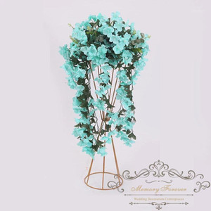flower stand wedding decoration metal walkway pillar flower centerpiece tall vase for table1