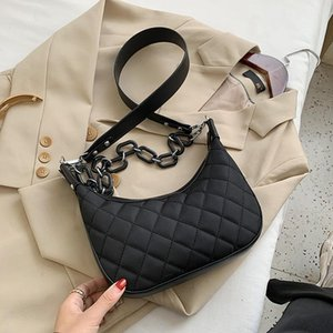 Women's Bag Quality Half Moon Crossbody Bags Female Casual Shoulder Bags Trendy Lady Purses And Handbag Women
