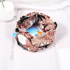 Coreano Multicolor Tie Dye Stampa Tipo di stampa Twist Cross Headband Sport Yoga Turban Fandbands ampio Accessori per copricapo elastici e elasticizzati Q Bbytyw