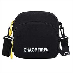 2020 Women Mini Shoulder Bag Female Small Canvas Cross Body Bags Ladies Sports Zipper Cloth Purse Shell Mobile Phone Bag Tote