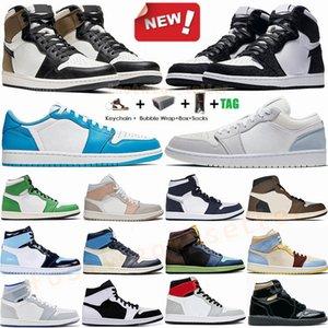 1 1s Haut Travis Mocha Low foncé 1 Hommes Basketball Chaussures Zoom Racer UNC Blue Shadow Obsidian Mode de sport Chaussures de sport Formateurs