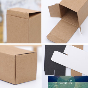 50pcs Lot DIY Black White Brown Kraft Paper Box Cardboard tles