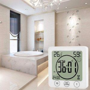 Orologi da parete LCD Bagno Orologio Temperatura Umidità Countdown Impermeabile Doccia Timer T8WB
